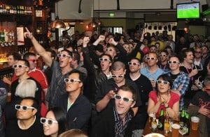 Pubs embrace 3D TV